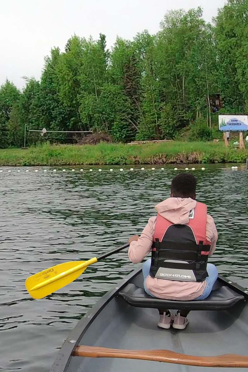 Kayaking on our Alaska Summer Vacation